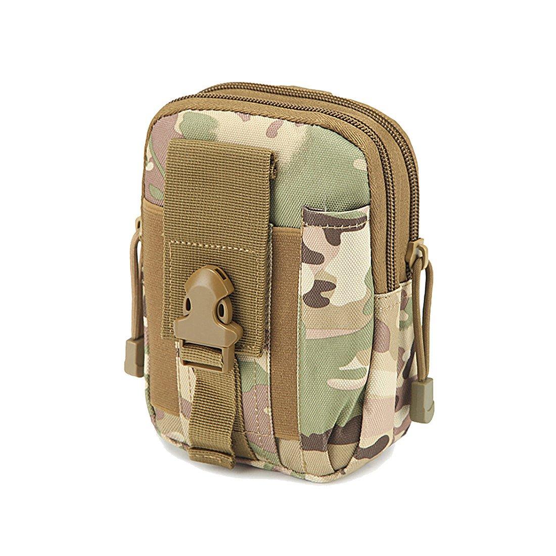 wenyujhタクティカルポーチユーティリティウエストベルトガジェットギアバッグツールオーガナイザーwithセル電話ホルダー B07CD8LPVX  Camouflage 1