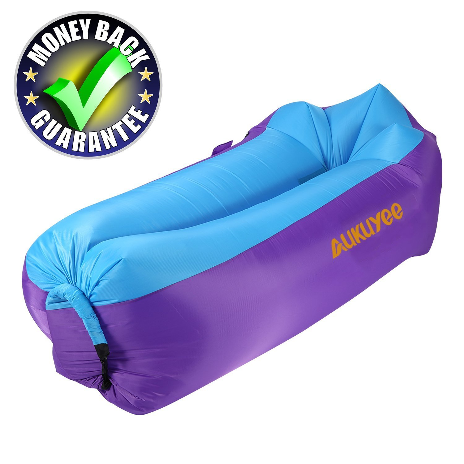 AUKUYEE Inflatable Lounger, Air Sofa Hammock Inflatable Chair Pool Float Ship Portable, Durable, Water Proof for Travelling, Camping, Hiking, Pool & Beach Parties with Carry Bag 2018 New Version by AUKUYEE