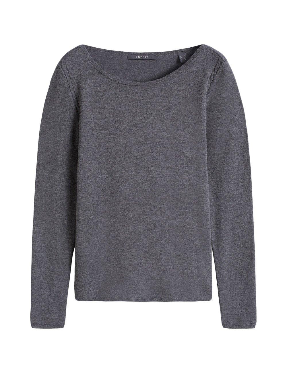Esprit Women's Basic Fine Knit Jumper in Size XL Grey