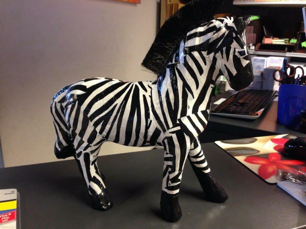 d/écopatch Animal Zebra Print Paper 30 x 40 cm Pack of 3 Sheets