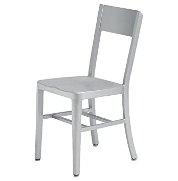 Wooster Industrial Loft Outdoor Safe Aluminum Dining Chair   Pair