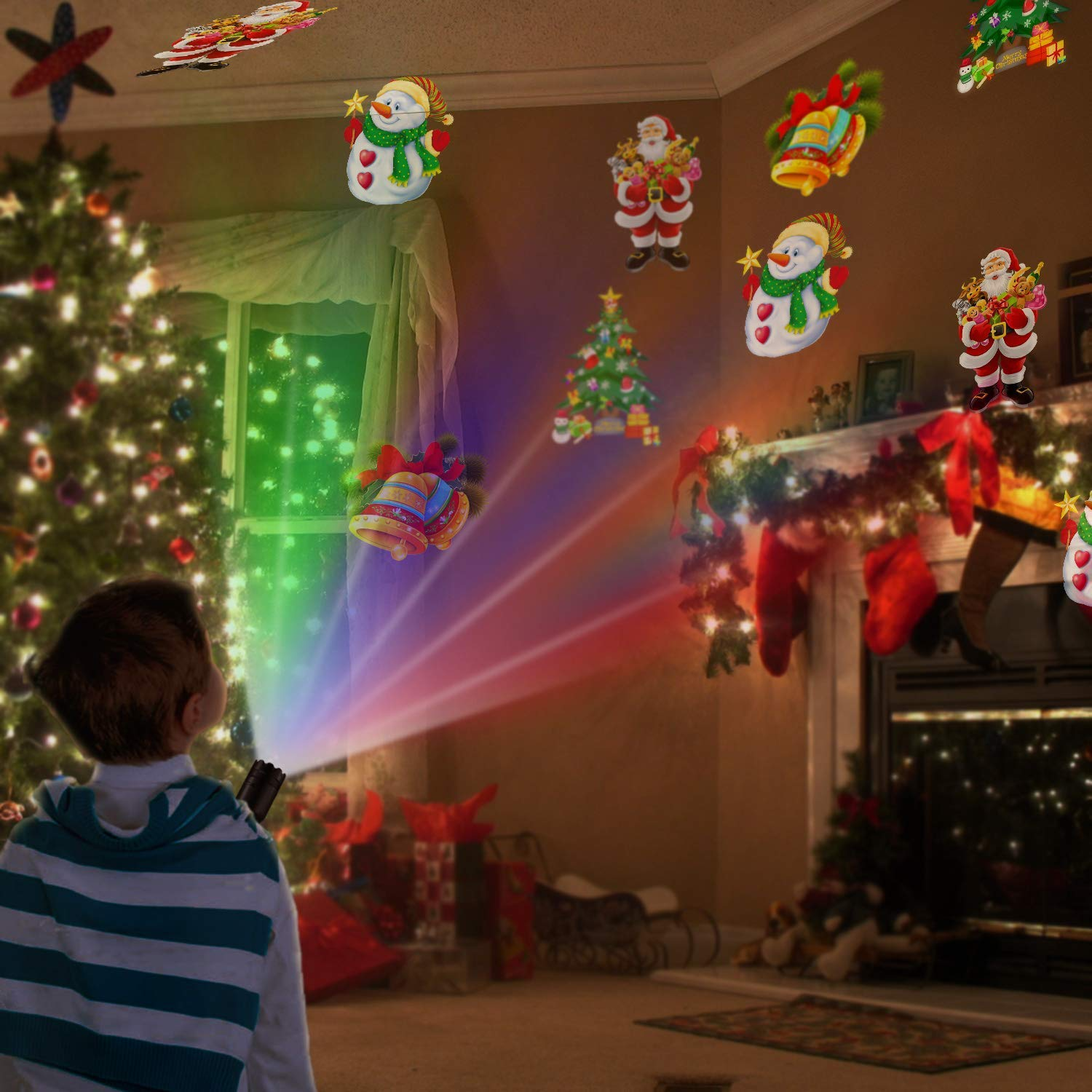 Kepeak Christmas Projector Flashlight Displacement Dynamic
