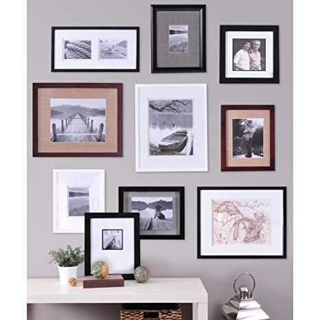 Amazoncom Pinnacle Frames And Accents 10 Piece Gallery Wall Set