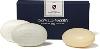 product image for Caswell-Massey Plant-Based Bar Soap - Signature Presidential Collection - Fragrance Assortment of Almond, Fresh Citrus, Thyme, Basil, Honey & Rose - Three Soap Bars, 5.8 oz each Triple Milled Luxury