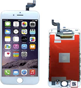 passionTR iPhone 6 LCD Screen Replacement 360 Degrees All Angles Under Sunglasses 2nd Generation Digitizer Frame Assembly Full Set Touch Screen Display (6S White, for iPhone 6s)