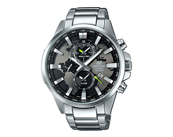 CASIO EFR-303D-1AV Reloj Casio Edifice para Hombre Acero Inoxidable, WR. 100, Word Time, Alarma: Amazon.es: Relojes