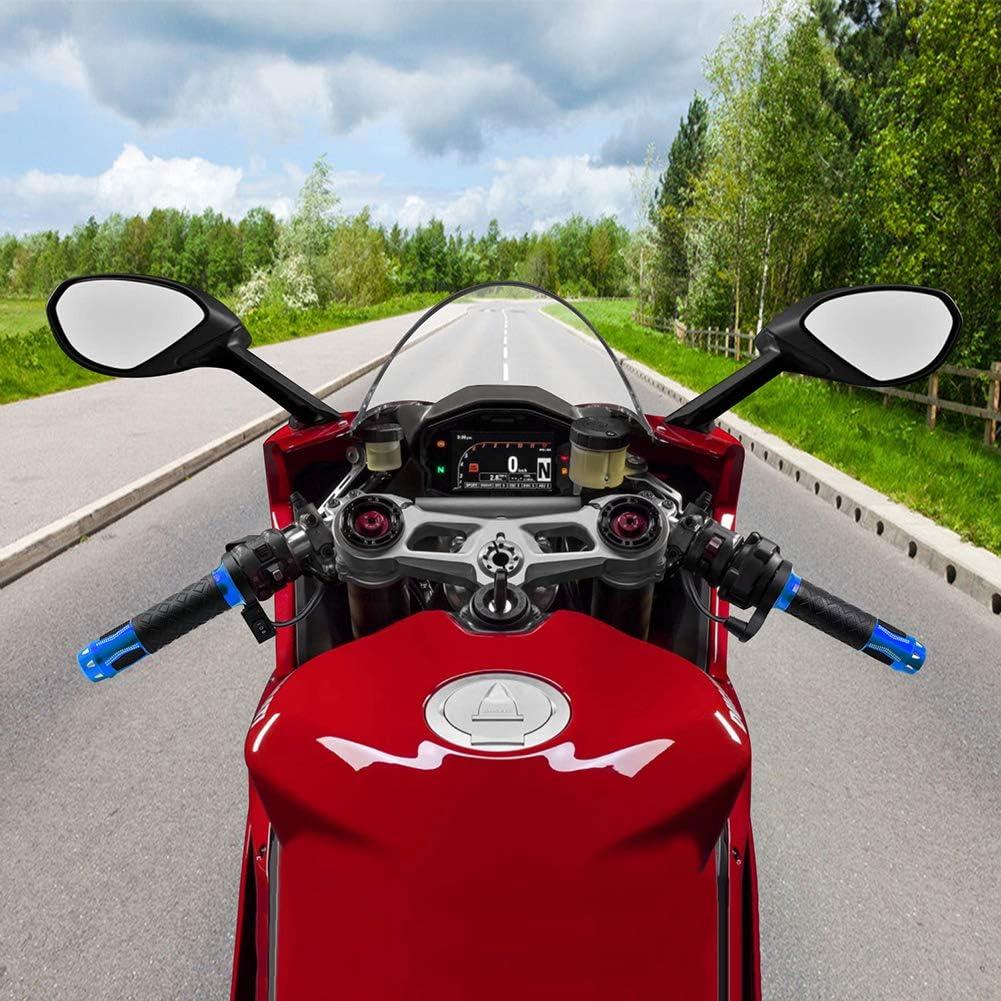 Fankr Griffheizung Motorrad Heizgriffe Lenkergriffe Zubehor 12v 22mm Griffe Heizung Winter Wasserdicht Undurchlässig Mit Schalter Für Motorroller Quad Moped Blau Sport Freizeit