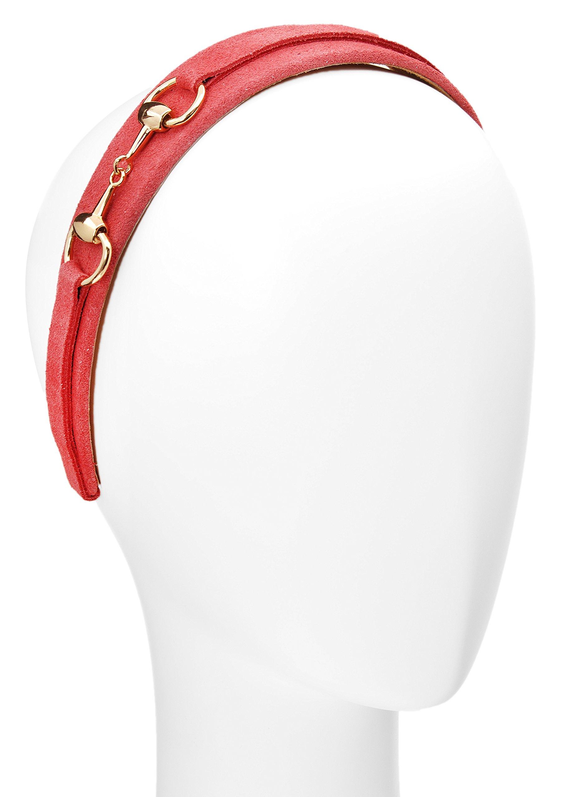 L. Erickson USA Suede Bit Headband - Coral by L. Erickson USA