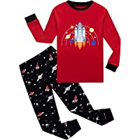 4-5 Years H.eternal Boys Pajamas Kids Cotton Toddler Sleepwear Truck Sets Christmas Halloween Nightwear Winter Long Sleeve Tops+Pants Outfits Clothes Sets Gray