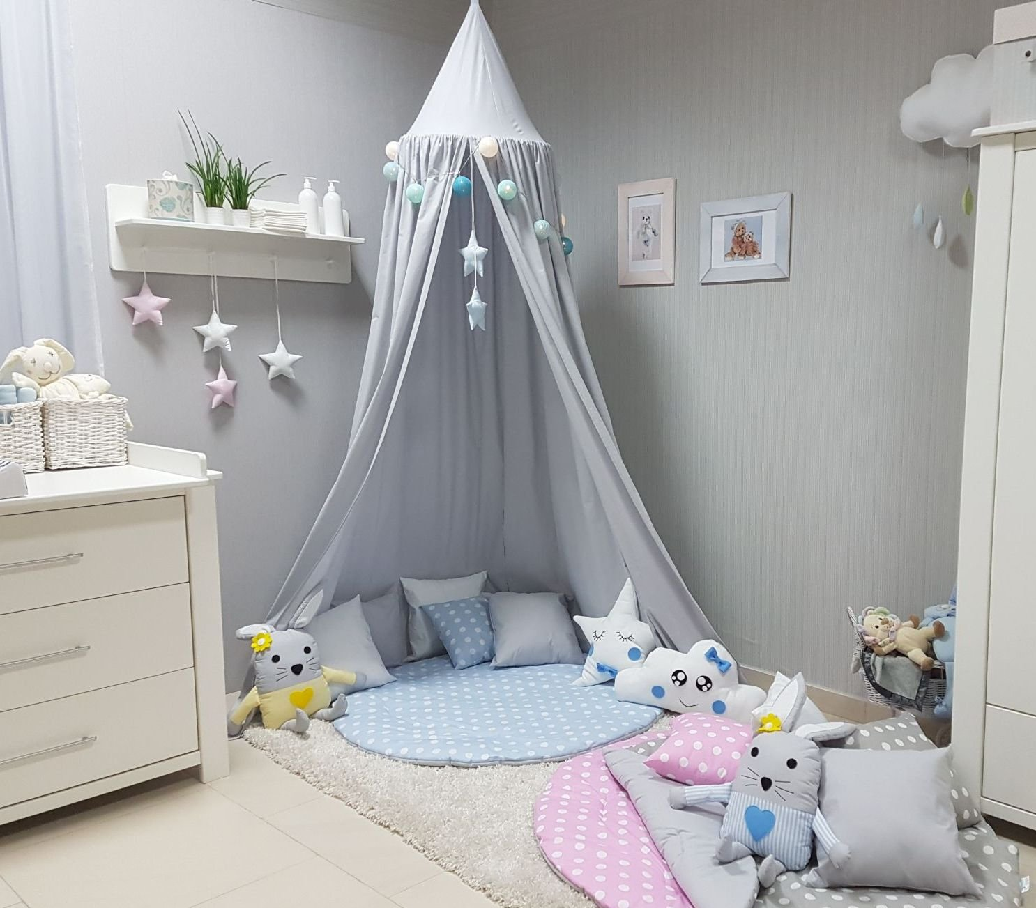 amazon.de: betthimmel & himmelstangen: baby - Himmel Fur Babybett Ein Traumeland Im Kinderzimmer
