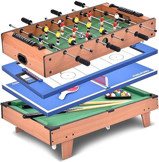 Amazon.com: 4-in-1 Rotating Multi Game Billiard Foosball ...