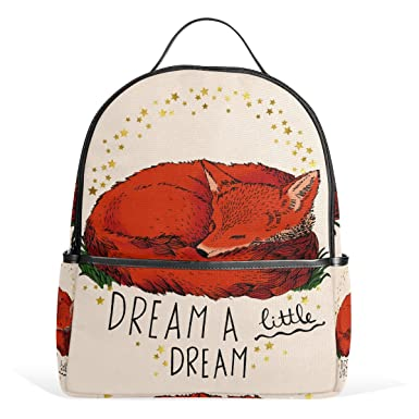 3e105261e8 COOSUN Red Fox Quote School Backpacks Bookbags for Boys Girls Teens Kids   Amazon.co.uk  Clothing