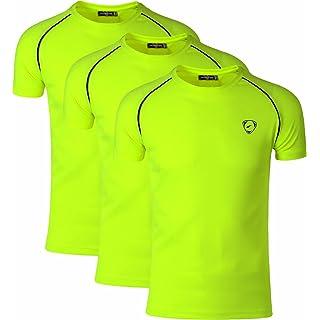 jeansian Men's 3 Packs Quick Dry Sport Short Sleeves T-Shirt LSL182 PackH M