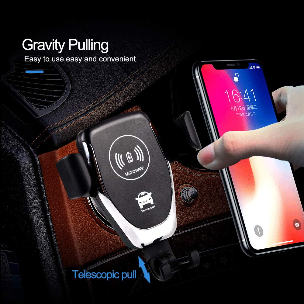 S7 8 S9+ AUCAS Wireless Charging for X 8 Plus Note 8 etc Samsung Galaxy S9 8400-Black S8+ Fast Wireless Car Charger AC Adapter Not Included S8