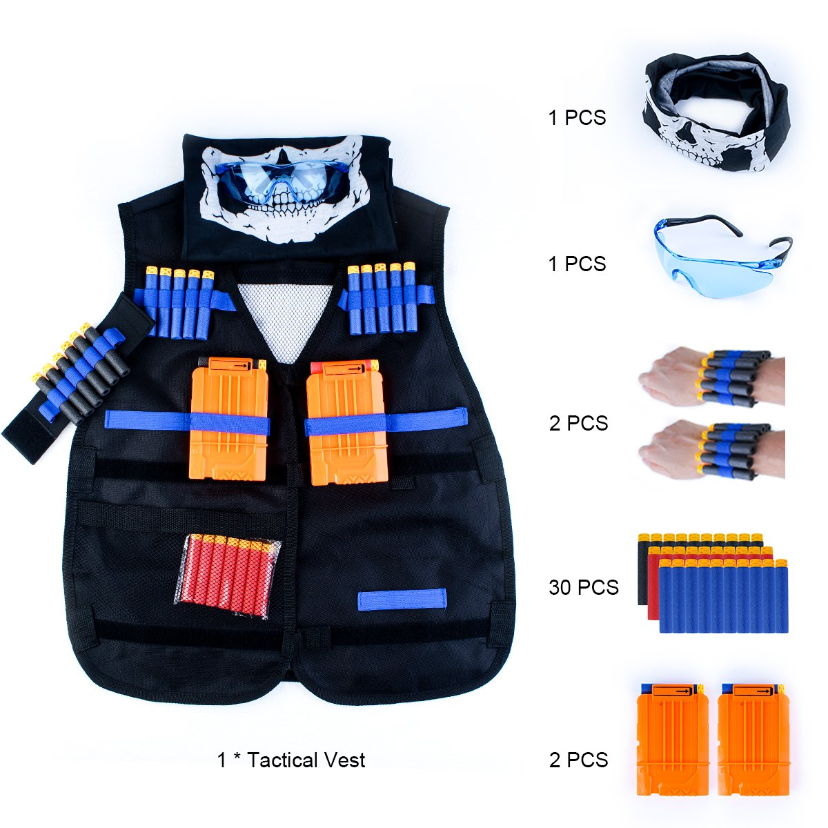 Maykid Tactical Vest Kit for Nerf Guns N-Strike Elite Series