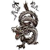 SPESTYLE wasserdicht ungiftig temporäre Tätowierung stickersCool und wasserdichte schwarzen Drachen Temp -Tattoos für Männer