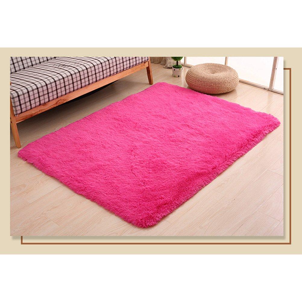 Alfombras Modernas y Suaves Alfombras cuadradas para ni/ños Juego Decorador para el hogar Alfombra para el Piso Alfombra Sala de Estar Dormitorio 50x80cm Rosa Roja