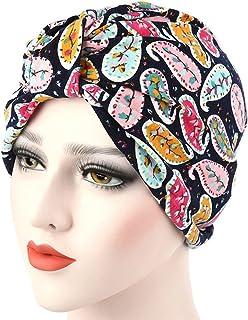 Livecity Fleur Femme stretch Turban Chapeau Cache tête de perte de cheveux