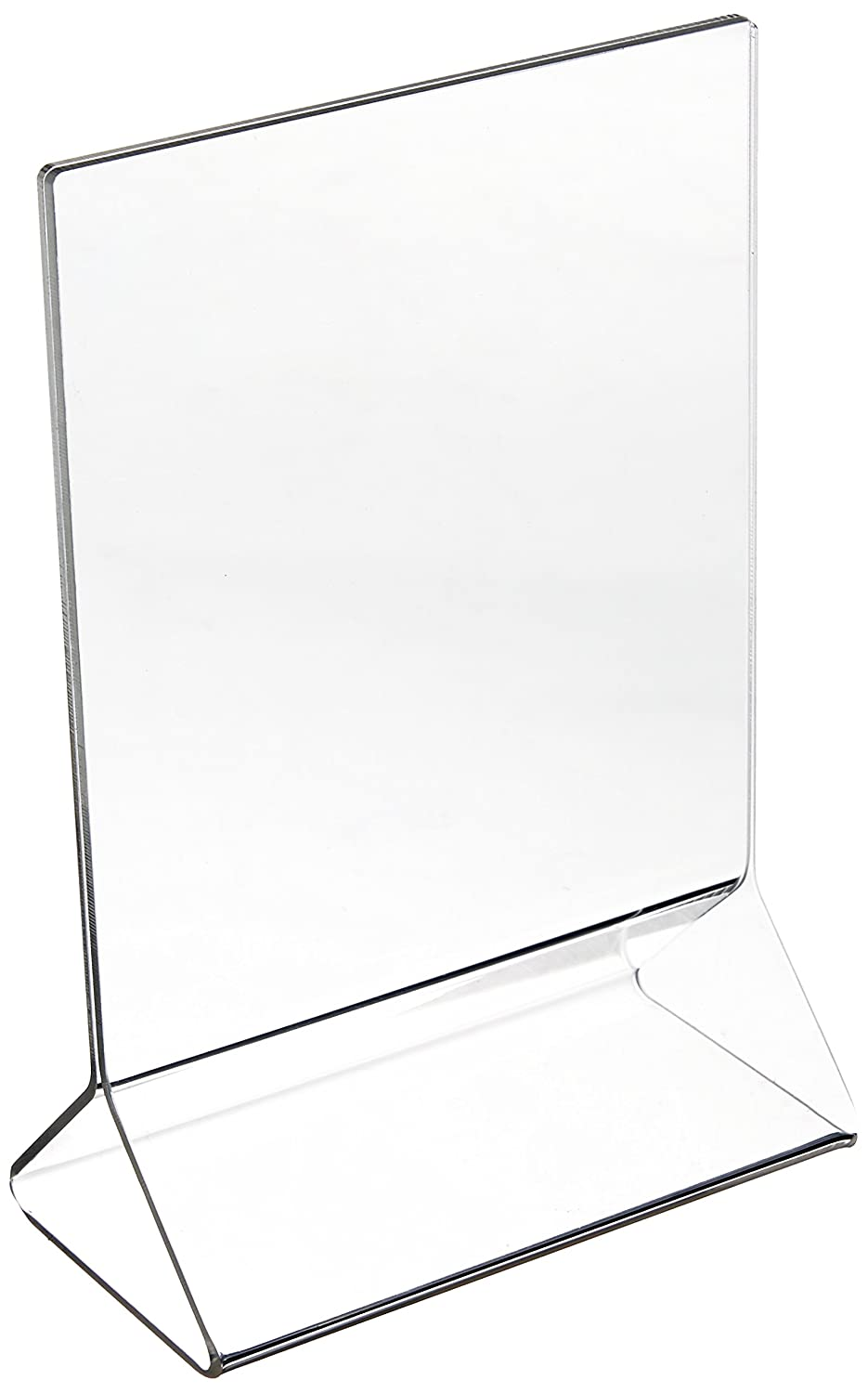 New Star Foodservice 22940 Acrylic Table Menu Card Holder, 4 by 6-Inch, Clear, Set of 12