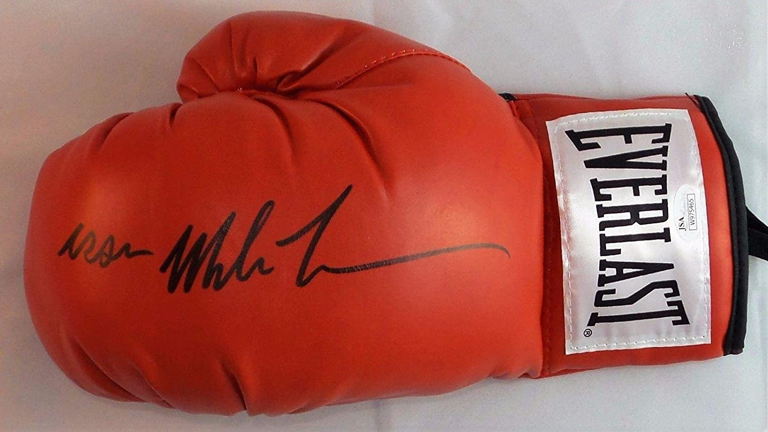 25abf50f6a1 Iron Mike Tyson Signed Autographed Red Everlast Boxing Glove Authentic  Left. - JSA Certified - Autographed Boxing Gloves at Amazon s Sports  Collectibles ...