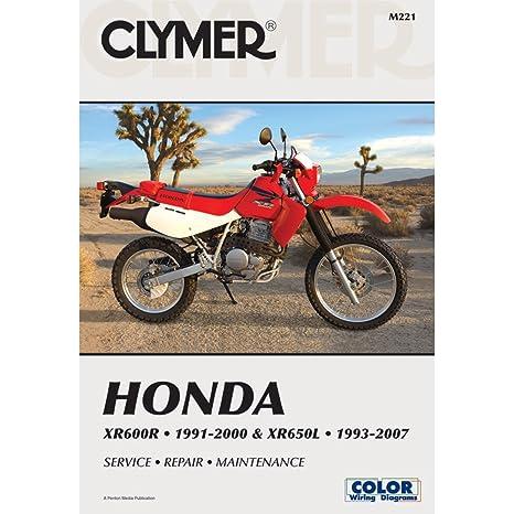 amazon com 93 18 honda xr650l clymer service manual honda rh amazon com xr650l service manual pdf xr650l owner's manual