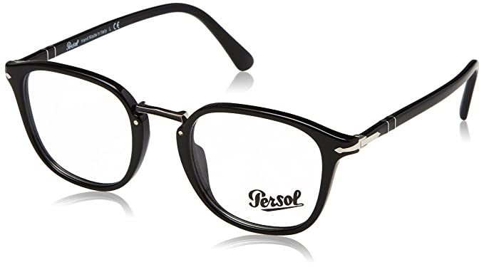 ebffd378f Persol PO3187V Glasses in Black PO3187V 95 51 51 Clear Black: Amazon ...
