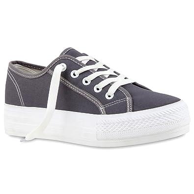 Damen Plateau Sneakers 90s Style Sportschuhe Freizeit Damen Sneakers Grau Plateau 41 Jennika xUbML