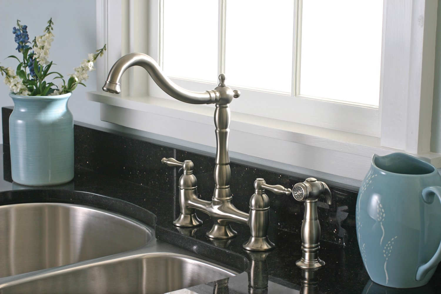 Premier Faucet 120345LF Charlestown Two Handle Kitchen Faucet ...