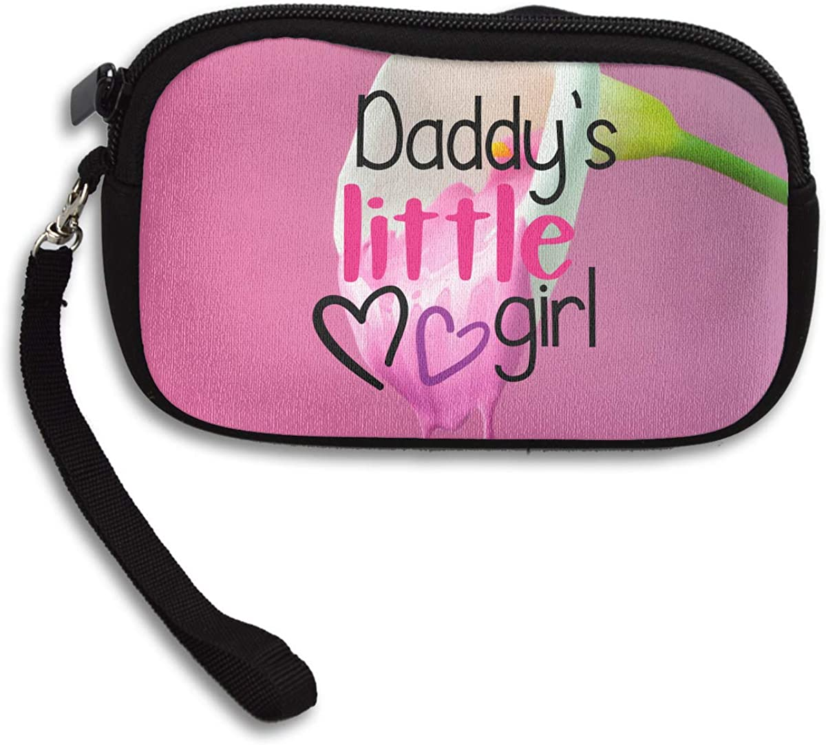 Daddys Little Girl Deluxe Printing Small Purse Portable Receiving Bag