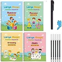 Reusable Magic Handwriting Copybook for kids Tracing Practice kit Preschool Calligraphy Book Set included Easy Grip Pen…