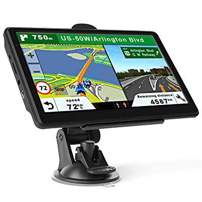 GPS Navigation for Car Truck, Latest 2020 Map Touchscreen 7 Inch 8G 256M Navigation System with Voice Guidance and Speed ​​Camera Warning, Lifetime Free Map Update: GPS & Navigation