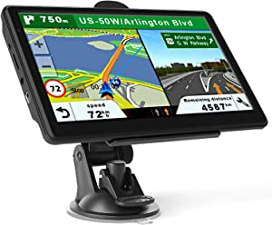 GPS Navigation for Car Truck, Touchscreen 7 Inch 8G 256M Navigation System with Voice Guidance and Speed ​​Camera Warning, Lifetime Free Map Update
