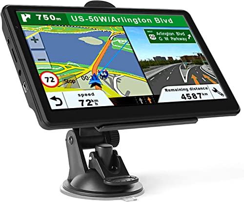 GPS Navigation for Car Truck, Touchscreen 7 Inch 8G 256M Navigation System with Voice Guidance and Speed Camera Warning, Lifetime Free Map Update