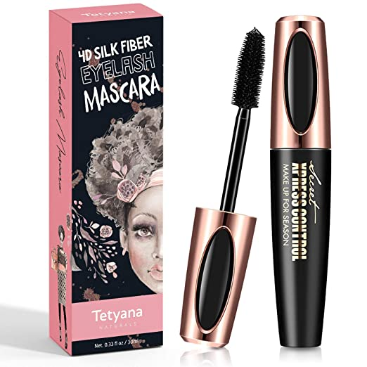 4D Silk Fiber Lash Mascara Waterproof Natural Thick Thickening and Lengthening Mascara, Long Lasting Charming Eye Makeup best waterproof mascara