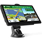 GPS Navigation for Car Truck, Latest Map Touchscreen 7 Inch 8G 256M Navigation System with Voice Guidance and Speed Camera