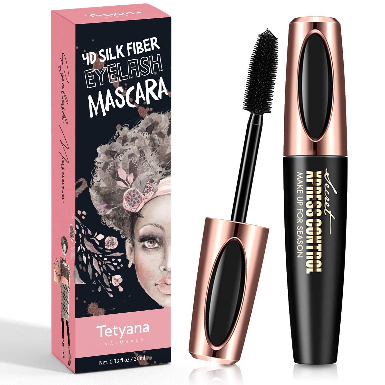 f3d43098e8b 4D Silk Fiber Lash Mascara Waterproof Natural Thick Thickening and  Lengthening Mascara, Long Lasting Charming