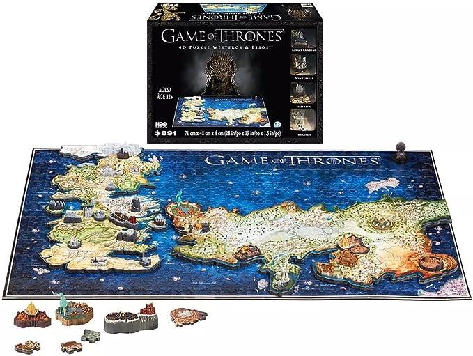 4DCityscape Juego de tronos temporada 4D - Puzzle de westeros y essos: Amazon.es: Juguetes y juegos