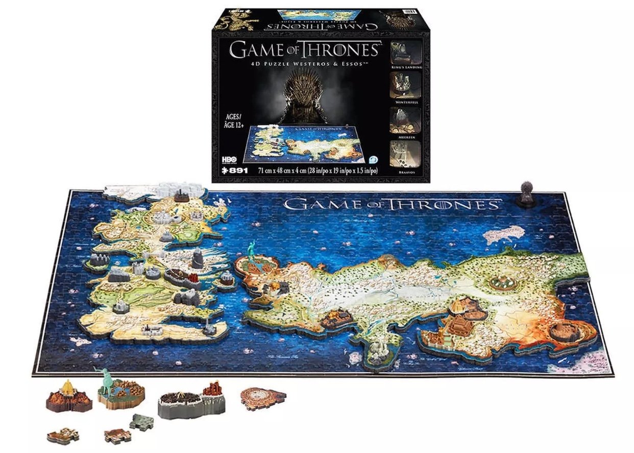 Game of Thrones 4D Puzzle of Westeros & Essos 4D Cityscape [891 pieces]