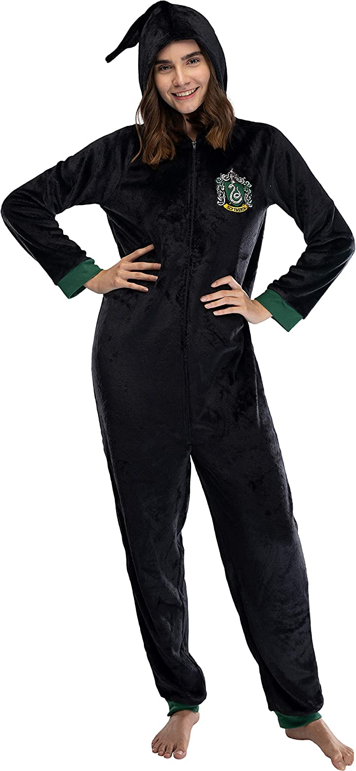 All 4 Houses Gryffindor Ravenclaw Hufflepuff INTIMO Harry Potter Juniors Hooded One-Piece Pajama Union Suit Slytherin
