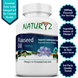 Naturyz Cold Pressed Flaxseed Oil (Omega 3-6-9) 1000 mg -60 Softgel Capsules