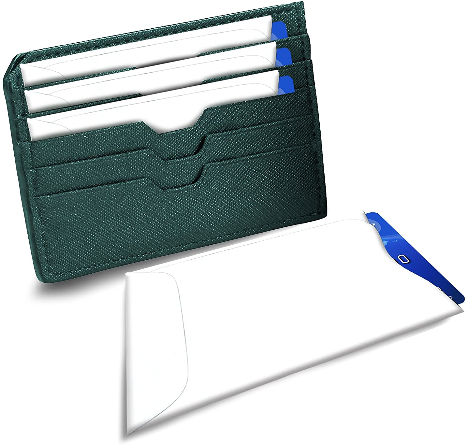 RFID Blocking Sleeves for Identity Theft Protection Perfectly Fits in Wallet//Purse Credit Card Holders Only Set of 15
