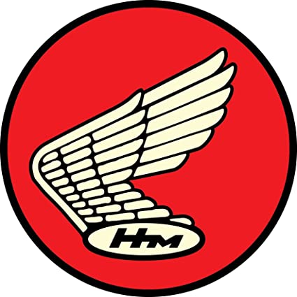 Amazon.com   Honda HM Racing Wings Classic Vintage Retro Vinyl Decal  Sticker 4