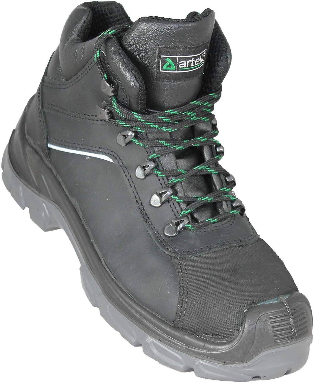 Artelli Worker Pro S3 SRC Arbeitsschuhe Bauschuhe hoch Schwarz B-Ware