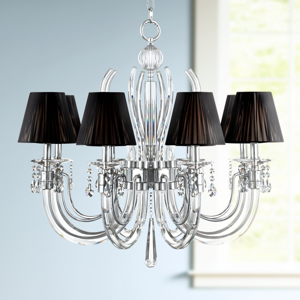 Derry street 8 light chrome 32 wide crystal chandelier amazon aloadofball Images