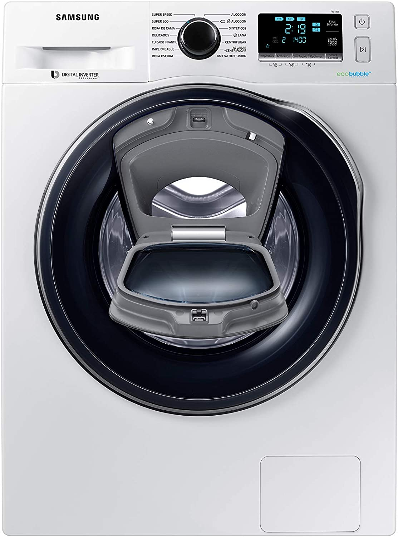 Samsung - Lavadora AddWash™ Serie 6 8kg WW80K6414QW A+++, Carga Frontal, EcoBubble™, Lavado Rápido, Blanco, LED 85 x 60 x 55 cm