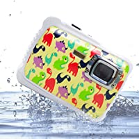 """Vmotal GDC5262 Fotocamera digitale impermeabile con zoom digitale 4x / 8MP / 2"""" Schermo LCD TFT/Camera impermeabile per bambini Regalo di Natale (Piccolo dinosauro)"""