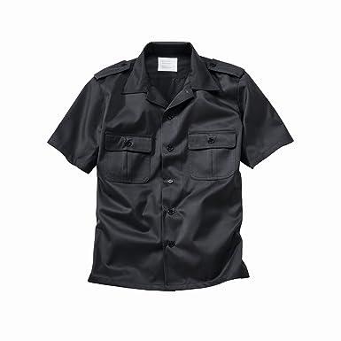 Surplus US Shirt Short Sleeve Black: Amazon.co.uk: Clothing