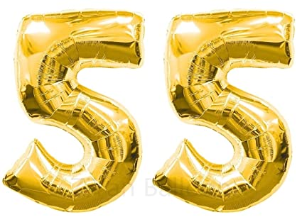 Amazon ZIYAN 40 Inch Giant 55th Gold Number BalloonsBirthday