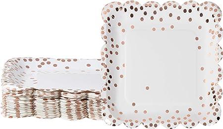 Amazon.com: Platos desechables – Paquete de 48 platos de ...
