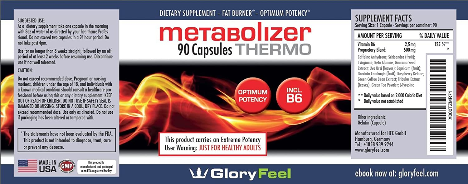 BEST METABOLISM BOOSTER, Thermogenic Fat Burner, Weight Loss Pills, Diet Pills with Green Tea, Raspberry Keton to lose weight, Vitamin B6 to Increase ...
